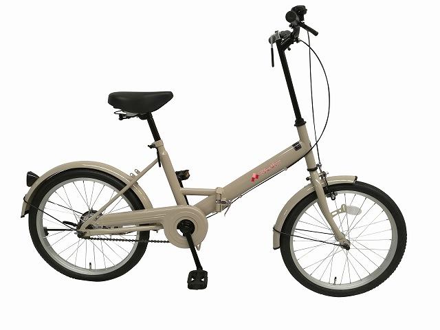 【送料無料】折り畳み自転車 リズム20 折りたたみ M011-RH200BKND ベージュ ブラック ファジーグリーン アイボリー レッド スカイブルー
