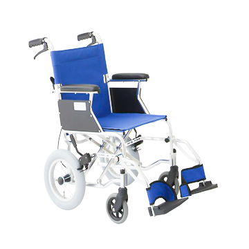 MIWA 美和商事 介助式車いすミニポン HTB-12 車イス 車椅子 アルミ 軽量 介助式 介助用 コンパクト 12インチ