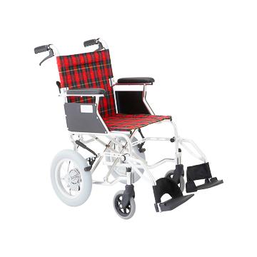 MIWA 美和商事 介助式車いすミニポン バンドブレーキ使用 HTB-12D 車イス 車椅子 アルミ 軽量 介助式 介助用 コンパクト 12インチ