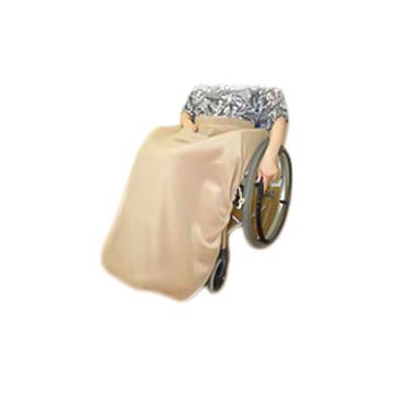 【ひざかけのみ】アソシエCHACO 防寒・防雨 車椅子用レインコート タイプD ひざかけロールタイプ(リバーシブル)