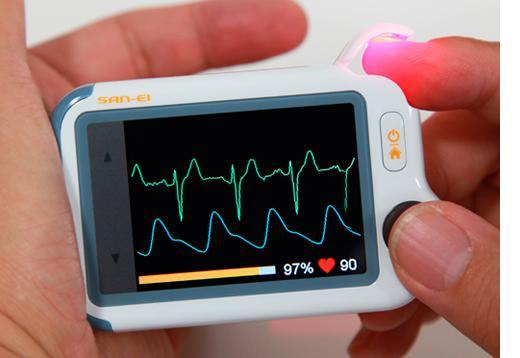 チェックミーライト 心電波形 確認 パルスオキシメータ 血中酸素濃度測定付き