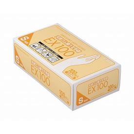天然ゴム極うす手袋EX100 / Sサイズ  07619 1箱 100枚入 *ケース配送(20箱入)