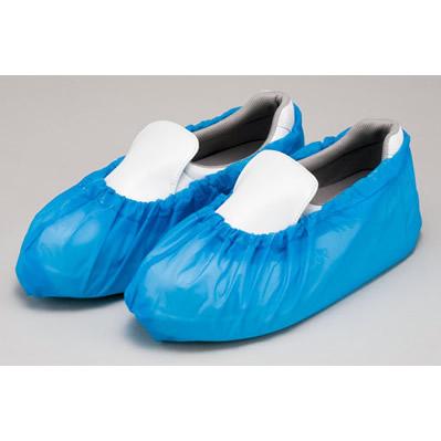 【ケース配送】エンボスシューズカバー 25足×20袋 / ブルー フリーサイズ  業務用 使い捨て ディスポ 靴用カバー 作業用 *メーカー直送 *代引不可【05P05Dec15】