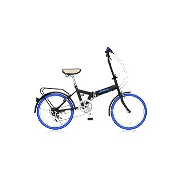 【送料無料】リズム折りたたみ自転車 6段変則 20インチ FD1B-206-BL カラー:ブルー(馬蹄型サークル錠カギ付)≪検索用≫【05P05Dec15】
