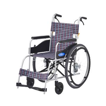日進医療器 アルミ 自走式車椅子 NC-1CB-NP(ノーパンクタイヤ) 介助ブレーキ付き*非課税≪検索用≫【05P05Dec15】