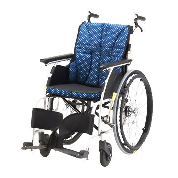日進医療器 アルミ 自走式車椅子 NA-U1 エアータイヤ ウルトラシリーズ 40cm 背折れ 介助ブレーキ付 車いす 自走用 非課税 ※メーカー直送品 *代引き不可【05P05Dec15】