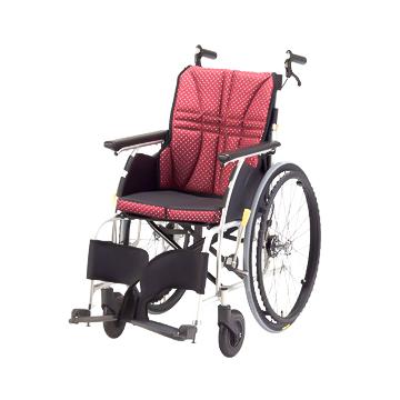 日進医療器 アルミ 介助式車椅子 NAH-U1 エアータイヤ ウルトラシリーズ 40cm 背折れ 介助ブレーキ付 車いす 非課税 ※メーカー直送品 *代引き不可【05P05Dec15】