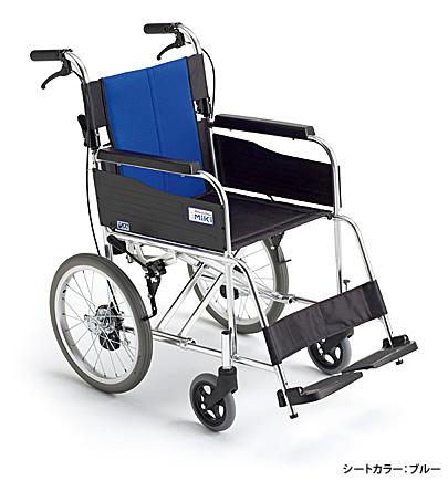 MIKI(ミキ) アルミ製 軽量介助式車椅子 BAL-2(ハイポリマータイヤ=ノーパンク) 車いす