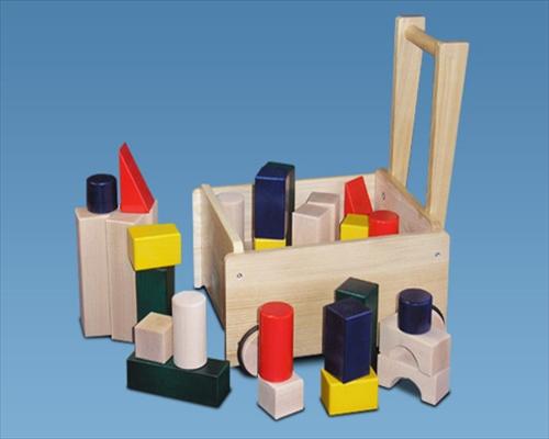 日本製木のおもちゃK34 押車積木