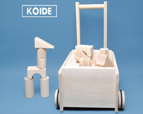 日本製木のおもちゃK33 押車積木
