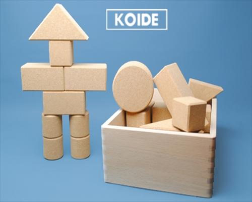 日本製木のおもちゃK39 コルク積木