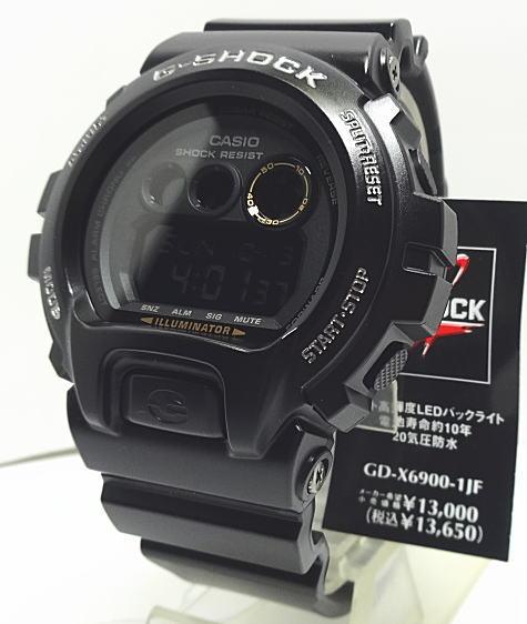 【あす楽対応】G-SHOCK 電池寿命約10年ブラック・ブラック GD-X6900-1JF