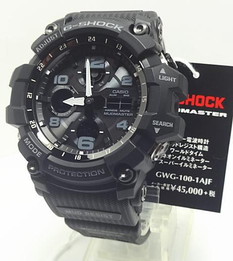 【】カシオ G-SHOCK 電波・ソーラーMUDMASTER(マッドマスター)GWG-100-1AJF