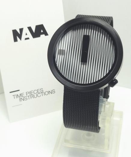 【あす楽対応】NAVA DESIGN ナバデザインBlackJacquard 39mm メンズ O603N NVA020041