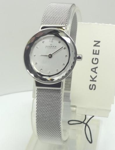 【あす楽対応】SKAGEN スカーゲン25mm レディース シルバー 456SSS