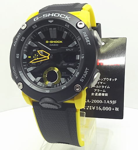 正規品【あす楽対応】カシオ G-SHOCKカーボンコアガード構造 GA-2000-1A9JF