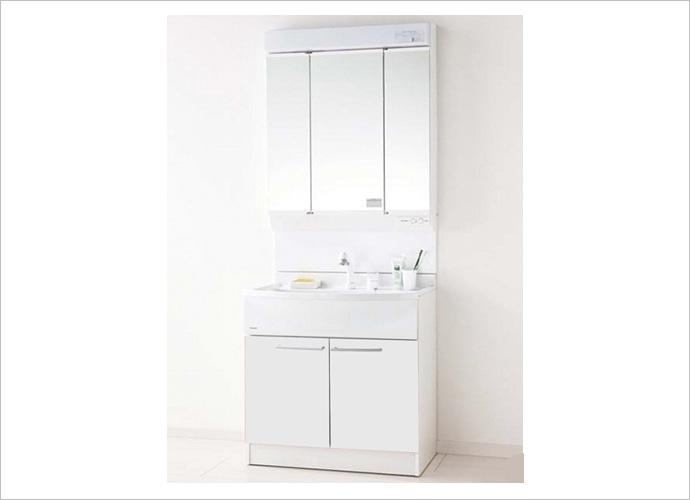 パナソニック 洗面ドレッシングエムライン 3面鏡/幅750mmGQM75KSCW+GQM75K3SMK+GQM001DG(電源コードセット)