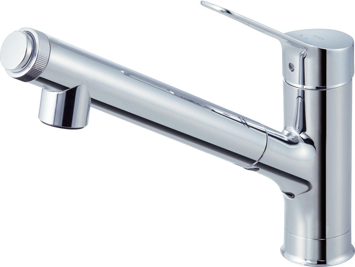 INAX・LIXIL浄水器内蔵型シングルレバー混合水栓オールインワンAJタイプJF-AJ461SYX(JW)
