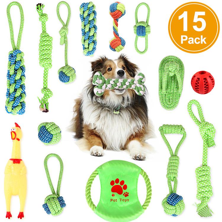 犬の好奇心と注意を高めるための多くのパターン 暇な時間をかわいいペットと共有しましょう 犬おもちゃ 犬ロープおもちゃ 噛むおもちゃ 犬用玩具 15個セット 人気ブランド 大幅にプライスダウン ペット用 耐久性 中型犬に適用 歯磨き 清潔 丈夫 ストレス解消 小