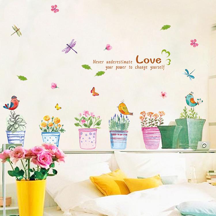 低価格化 お部屋の雰囲気を変えたい もっときれいになりたい もっとファッションになりたい 販売 ウォールステッカー 花 壁紙シール 植物 壁紙 部屋飾り おしゃれ 剥がせる ガーデン 防水 送料無料