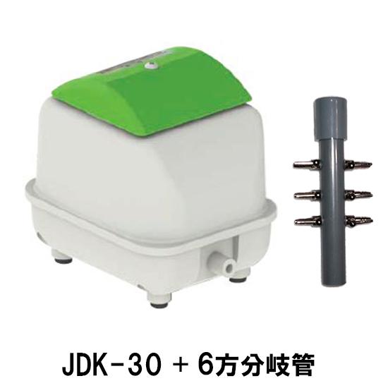 大晃 ダイアフラムブロワ JDK-30+6方分岐管 【送料無料 但、一部地域送料別途】【♭】