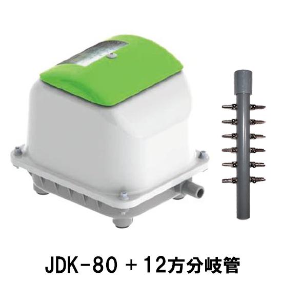 大晃 ダイアフラムブロア JDK-80+12方分岐管送料無料【♭】