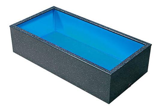 テクノ販売 FRP水槽 600LL 水量 1.7t【代引不可 同梱不可 送料別途見積】【♭】