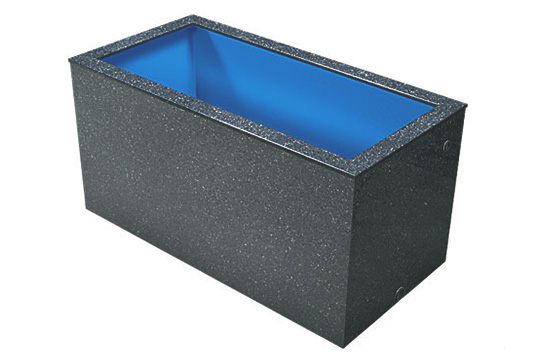 テクノ販売 FRP水槽 900L 水量 1.4t【代引不可 同梱不可 送料別途見積】【♭】