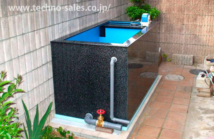 ☆テクノ販売 FRPハイバイオ水槽 900LH 水量 1.4t【代引不可 同梱不可 送料別途見積】【♭】