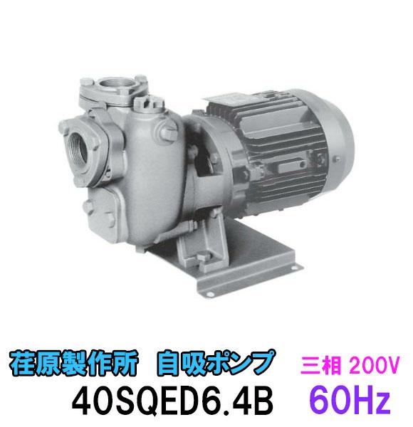 エバラ 自吸ポンプ SQD型40SQED6.4B 三相200V 60Hz【代引不可 同梱不可 送料無料 北海道 ・沖縄・離島 別途見積】【♭】