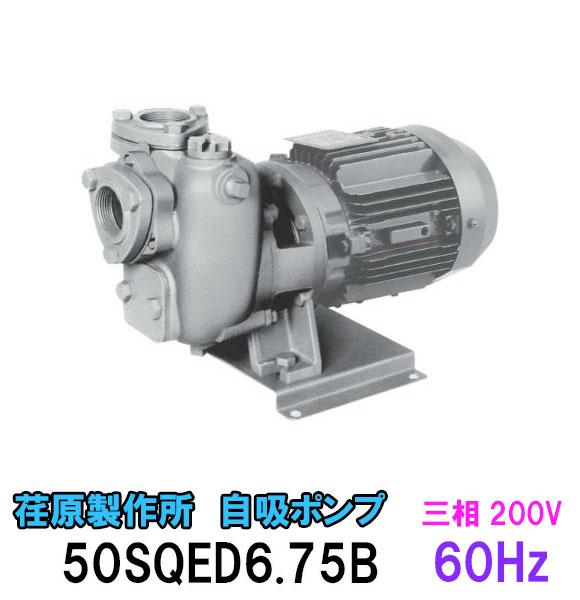 エバラ 自吸ポンプ SQD型50SQED6.75B 三相200V 60Hz【代引不可 同梱不可 送料無料 北海道 ・沖縄・離島 別途見積】【♭】