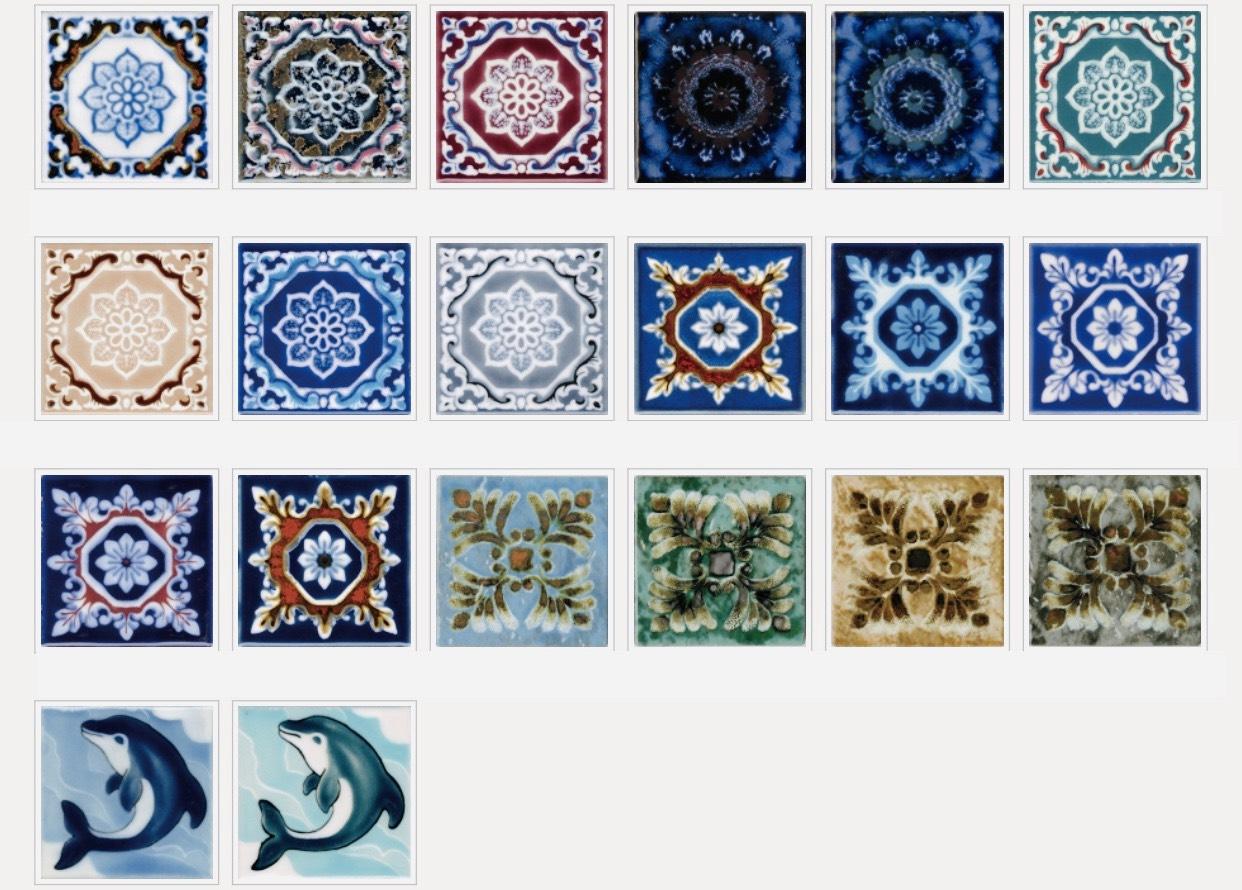ラスティカデザイン85 出群 シリーズ オープニング 大放出セール 美濃焼伝統の釉薬によって マジョルカタイル紋様を焼き付けたデザインタイルのシリーズです