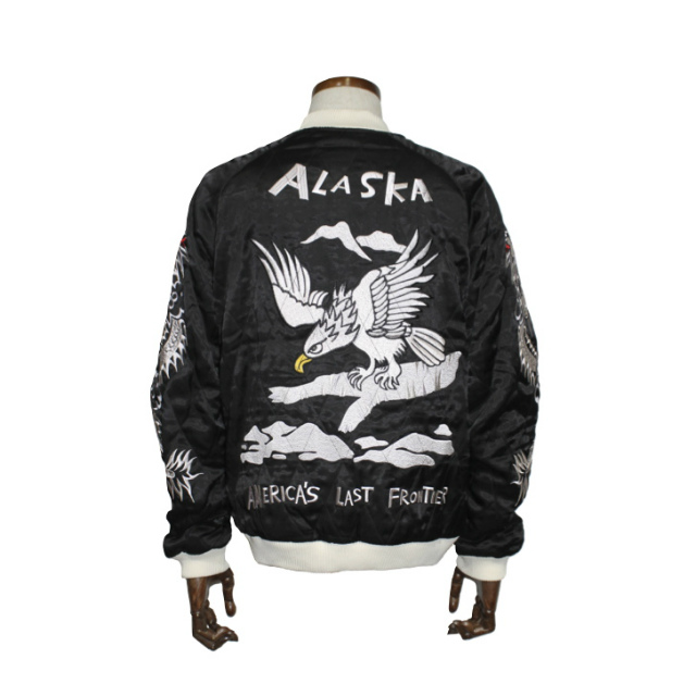 送料無料!HOUSTONスーベニアジャケット鷹刺繍スカジャンヒューストン