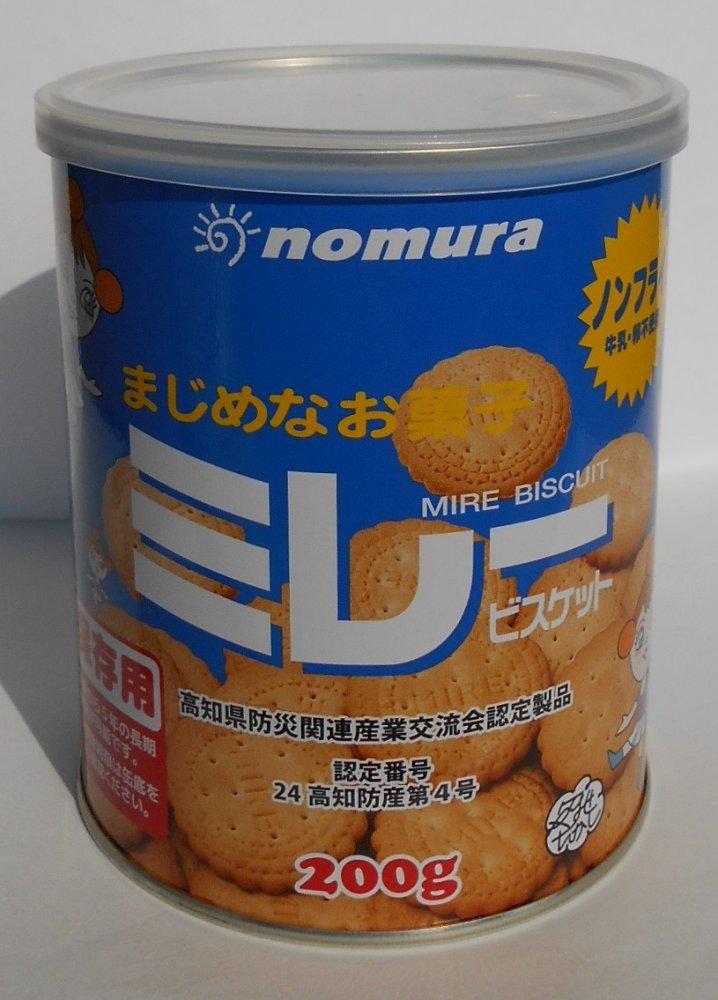 送料無料!迅速にお届けします。 野村煎豆加工店 保存用 ミレービスケット缶 (ノンフライ)  200g×3缶