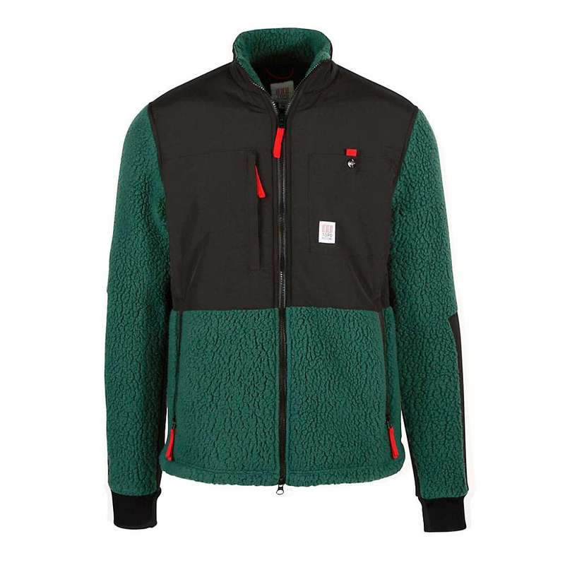 TOPO DESIGNS トポデザイン NEW! TOPO DESIGNS トポデザイン SUBLPINE FLEECE MEN / BLACK/FOREST