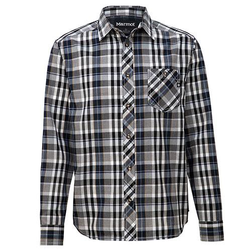 【送料無料】マーモット Marmot キューディー チェック ロングスリーブシャツ / ブラック 品番:TOMNJB76