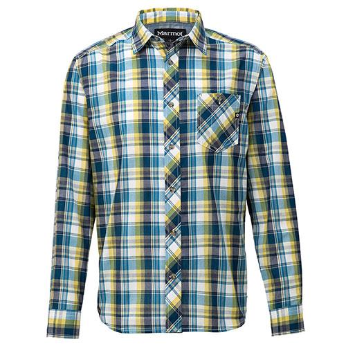 【送料無料】マーモット Marmot キューディー チェック ロングスリーブシャツ / ブルー 品番:TOMNJB76