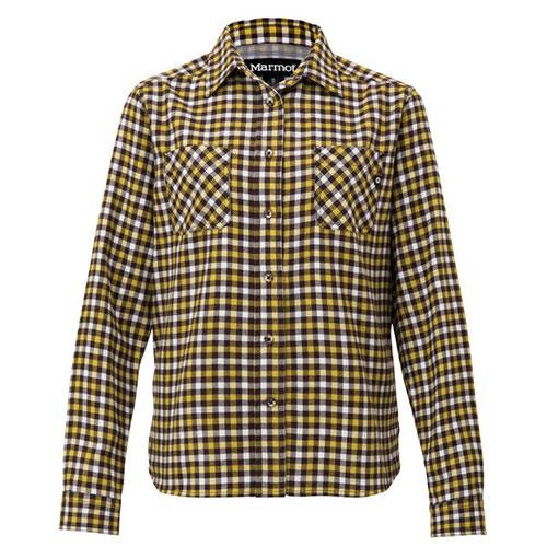 マーモット Marmot ウイメンズ ガンクラブチェック ロングスリーブシャツ / ブラック品番:TOWMJB76【送料無料】