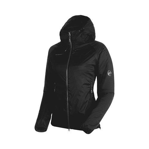 マムート MAMMUT Rime IN Flex Hooded Jacket AF Women / black 品番:1013-00760【送料無料】【2020/5/6 18:00~5/9 19:59】