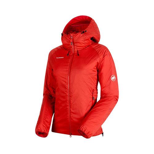 【クーポン400円OFF】マムート MAMMUT Rime IN Flex Hooded Jacket AF Women / magma品番:1013-00760【送料無料】【ワンダフルデイ 2019/03/01 00:00~23:59】