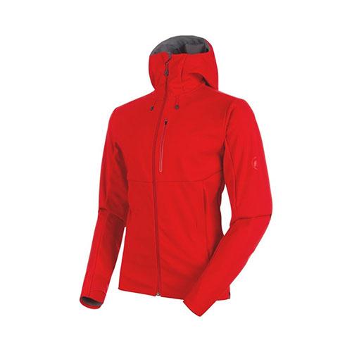 マムート MAMMUT Ultimate V SO Hooded Jacket AF Men / magma-titanium melange 品番:1011-00351【送料無料】