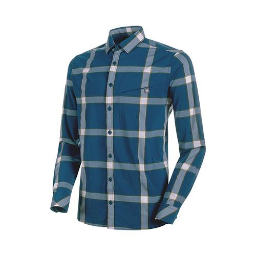 【送料無料】マムート MAMMUT Mountain Longsleeve Shirt Men / poseidon-dark white-olive品番:1015-00350