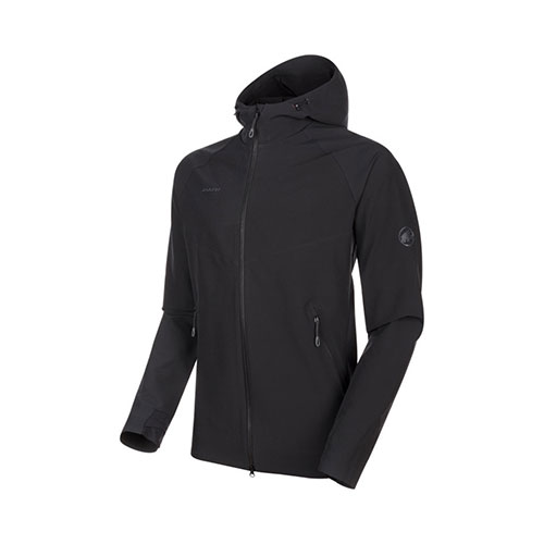 【クーポン1500円OFF】マムート MAMMUT Macun SO Hooded Jacket AF Men / black品番:1011-00790【送料無料】【2020/5/5 00:00~5/9 19:59】