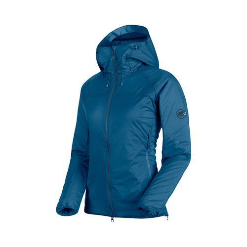 マムート MAMMUT Rime IN Flex Hooded Jacket AF Women / sapphire品番:1013-00760【送料無料】【2020/5/21 00:00~5/23 23:59】