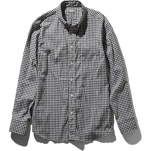 【送料無料】ザ・ノースフェイス THE NORTH FACE ロングスリーブヒデンバリーシャツ メンズ / ブラックギンガム品番:NR11966