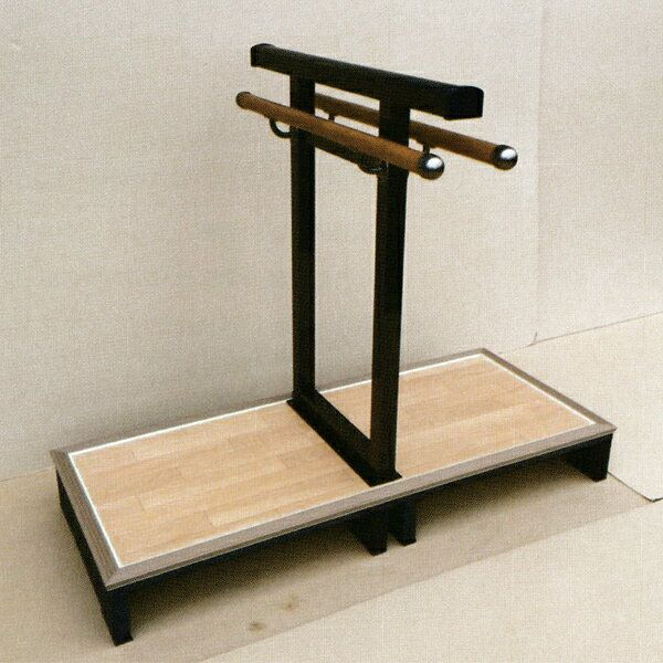 アルミ製 玄関用手摺 A型(両側使い) 台座長さ121cm