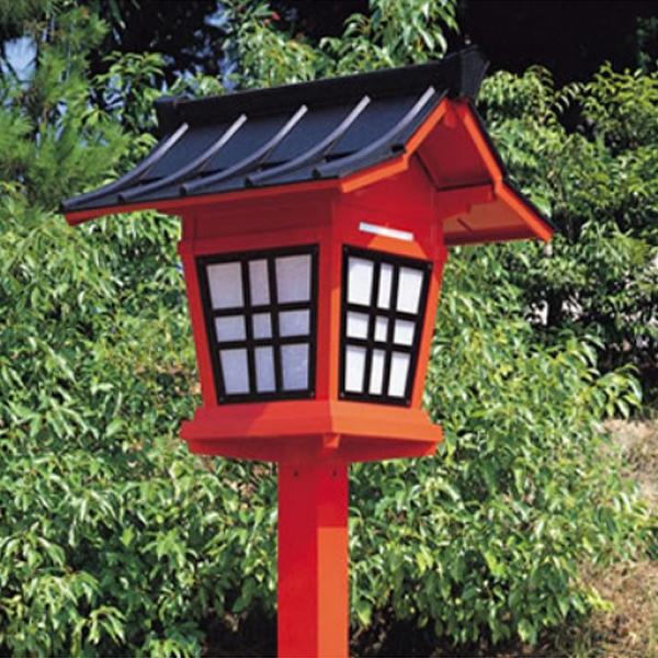 アルミニウム製 神社用献灯籠(灯篭) 1基