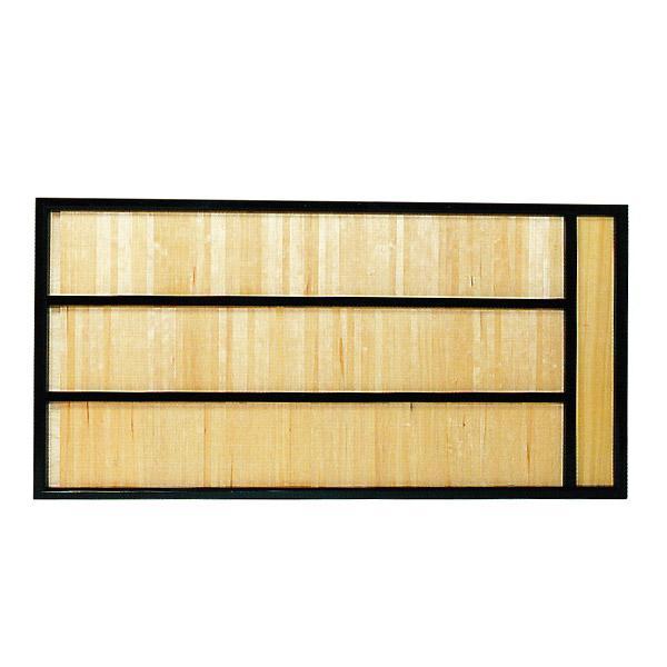 【大型送料】【日本製】寄付額[木製黒塗枠]3段幅180cm×高さ90cm×厚み3.5cm