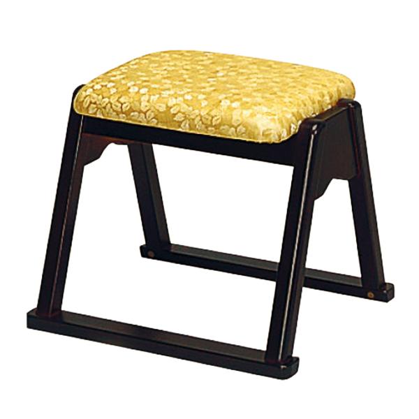 【寺用・寺院用/在家用/和室設備】本堂椅子 YRシリーズ(畳に使える和室/お座敷用チェア)幅43cm×奥行34.5cm×座面高(座高)35cm[木製]背もたれなし