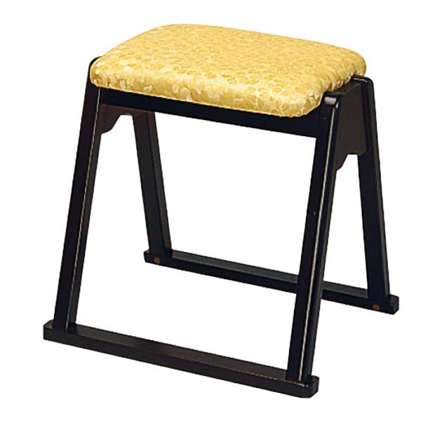 【寺用・寺院用/在家用/和室設備】本堂椅子 YRシリーズ(畳に使える和室/お座敷用チェア)幅43cm×奥行39cm×座面高(座高)42cm[木製] 背もたれなし